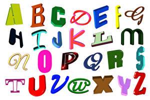 Hintergrundbilder Wort Englisch Weißer hintergrund alphabet