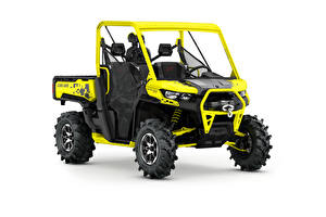 Wallpapers ATV Yellow White background Can-Am Defender X mr HD10