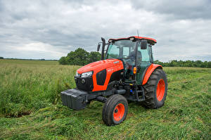 Hintergrundbilder Landwirtschaftlichen Maschinen Gras Traktoren 2015-20 Kubota M5-111