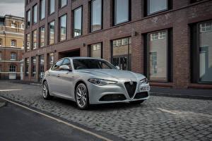 Bilder Alfa Romeo Silber Farbe Metallisch Giulia Sprint UK-spec, 952, 2020 Autos