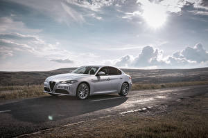 Pictures Alfa Romeo Roads Silver color Metallic Clouds Giulia Sprint UK-spec, 952, 2020 Cars