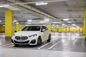 Wallpaper BMW White Metallic Parking 220d Gran Coupe M Performance Parts, (F44), 2020 Cars