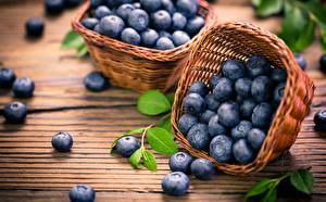 Image Blueberries Wicker basket