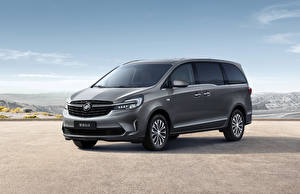 Wallpaper Buick Gray Minivan 2020 GL8