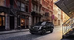 Wallpapers Cadillac Sport utility vehicle Black Flag Street Escalade, Sport Edition, 2019 automobile