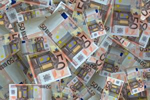 Pictures Closeup Paper money Money Euro Texture 50