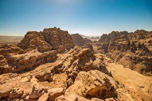 Hintergrundbilder Wüste Felsen Petra, Jordan Natur