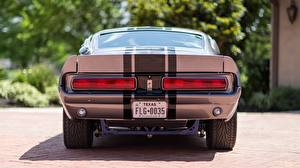 Image Ford Back view Stripes 1967 Mustang GT500E Shelby Eleanor Cars