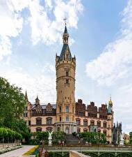 Hintergrundbilder Deutschland Burg Skulpturen Schwerin castle