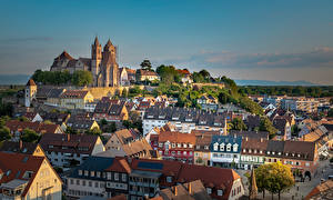 Images Germany Houses Temples Church Roof Breisach am Rhein Cities