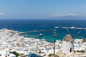 Wallpapers Greece Building Sea Berth Fournakia, Mykonos Cities