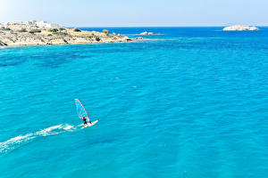 Fotos Griechenland Wellenreiten Küste Meer Naxos City Natur