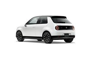 Wallpapers Honda White Metallic White background e, JP-spec, 2020 Cars