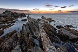 Fondos de escritorio Irlanda Costa Roca Donegal Naturaleza