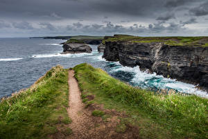Images Ireland Sea Coast Cliff Kilkee Nature