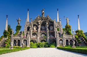 Pictures Italy Sculptures Landscape design Gardens Palace