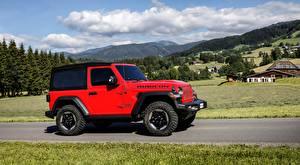 Fotos Jeep SUV Rot Seitlich Wrangler, Rubicon EU-spec, 2018 automobil