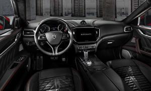Fonds d'écran Maserati Salons Volant directionnel Ghibli Trofeo, M157, 2020