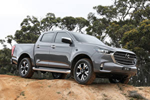 Bilder Mazda Pick-up Grau Metallisch BT-50 Double Cab, AU-spec, 2020 Autos