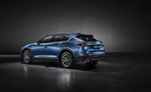 Sfondi desktop Mazda CUV Blu colori Metallizzato CX-4, 2019