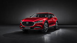 Wallpapers Mazda CUV Red Metallic CX-4, 2019 automobile
