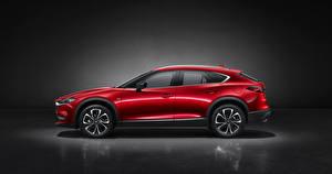 Wallpaper Mazda Crossover Red Metallic Side CX-4, 2019