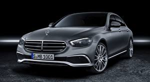 Sfondi desktop Mercedes-Benz Berlina Grigia Metallico E-class, Exclusive Line, 2020