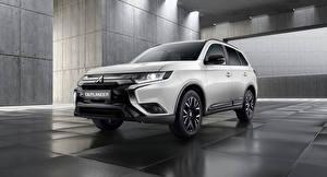Sfondi desktop Mitsubishi Metallico Crossover Bianco Outlander Black Edition, CIS-spec, 2020 automobile