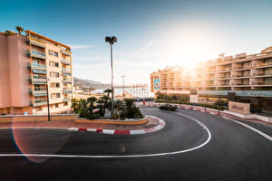 Image Monte Carlo Monaco Roads Houses Asphalt Cities