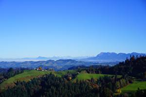 Pictures Mountains Forest Switzerland Horizon Hill Alps Pilatus, Canton Lucerne Nature