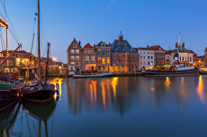 Wallpapers Netherlands Building Berth Boats Maassluis Cities