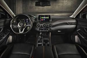 Fonds d'écran Nissan Salons Volant directionnel Sentra SR, North America, 2020 Voitures