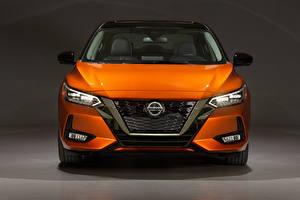 Bilder Nissan Orange Metallisch Vorne Sentra SR, North America, 2020 automobil