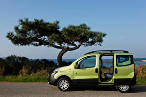 Picture Peugeot Green Metallic Side Opened door Minivan