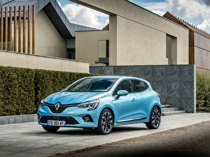 Image Renault Light Blue Metallic Clio E-TECH, 2020 Cars