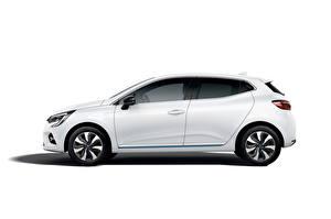 Wallpapers Renault White Metallic Side Clio E-TECH, 2020 automobile