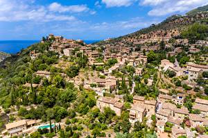 Hintergrundbilder Spanien Gebäude Hügel  Städte