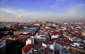 Fotos Spanien Madrid Haus Von oben Städte