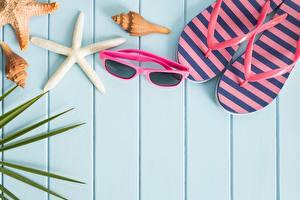 Bilder Sommer Brille Flipflop Bretter Vorlage Grußkarte