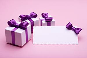 Image Template greeting card Box Violet Bow knot