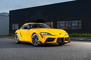 Fotos Toyota Gelb Metallisch GR Supra 2.0 North America, (A90), 2020 automobil
