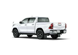 Pictures Toyota Pickup White Metallic White background Hilux Z Double Cab, JP-spec, 2020 automobile