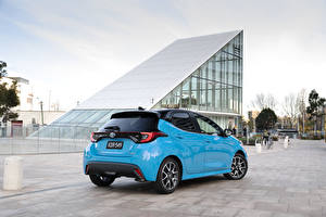 Wallpaper Toyota Light Blue Metallic Yaris ZR Hybrid, AU-spec, 2020 Cars