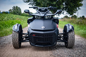 Wallpapers Motorized tricycle Black Front Can-Am Spyder F3-S