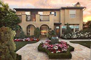 Bilder Vereinigte Staaten Haus Landschaftsbau Herrenhaus Rasen San Juan Capistrano Städte