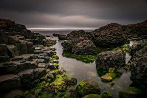 Hintergrundbilder Vereinigtes Königreich Küste Stein Giants Causeway, Northern Ireland Natur
