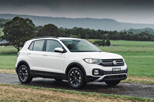 Bakgrunnsbilder Volkswagen Hvit Crossover 2020 T-Cross Life Biler