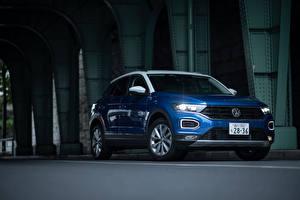 Bureaubladachtergronden Volkswagen Blauw kleur Metallic 2020 T-Roc auto's