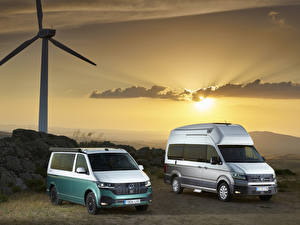 桌面壁纸,,大众汽车,2 兩,多功能休旅車,Volkswagen California, Volkswagen Grand California,