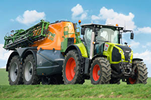 Pictures Agricultural machinery Tractors 2015-20 Claas Axion 820